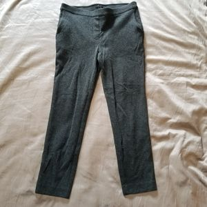 Theory Thaniel Gray Wool Blend Crop Pants 8